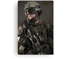 PORTRAIT OF A SOLDIER Canvas Print
