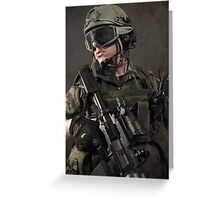 PORTRAIT OF A SOLDIER Greeting Card
