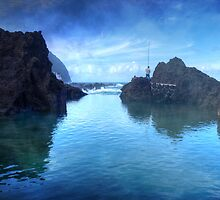 The Fisherman: Porto Moniz, Madeira by Ursula Rodgers