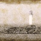 White lighthouse sketch by Cebas