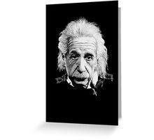 Albert Einstein E=mc² Illustration Greeting Card