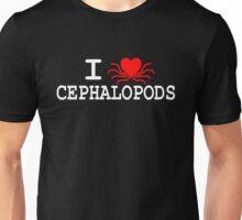 I Heart Cephalopods - Light On Dark Unisex T-Shirt