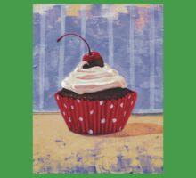 Red Cherry Cupcake Kids Tee