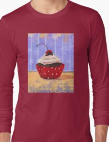 Red Cherry Cupcake Long Sleeve T-Shirt