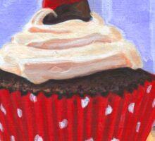 Red Cherry Cupcake Sticker