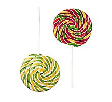 Two opposite lollipops by Cebas