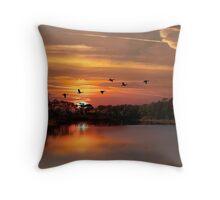 Dauphin Island Bird Sanctuary Throw Pillow