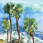 Coconut palms on the cliff by Irina Fominykh