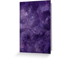 DREAMS IN PURPLE ON CANVAS Greeting Card