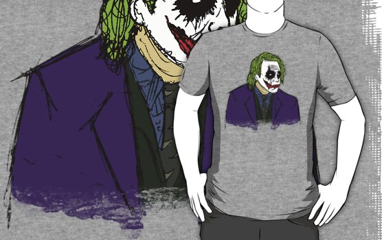 Hand Sketched Joker by digihill