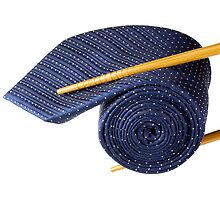 Blue tie and chopsticks by Cebas