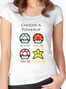 Mario Mushrooms Women's Fitted Scoop T-Shirt