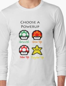 Mario Mushrooms Long Sleeve T-Shirt