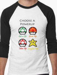 Mario Mushrooms Men's Baseball ¾ T-Shirt