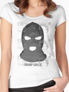 """Swamp Ghillie"" counterfeit  Women's Fitted Scoop T-Shirt"
