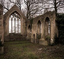 St Marys Church ruins - Tivetshall St Mary, Norfolk by Adam North