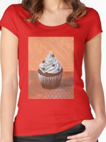 Chocolate Stars Cupcake Women's Fitted Scoop T-Shirt