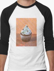 Chocolate Stars Cupcake Men's Baseball ¾ T-Shirt