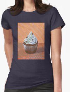 Chocolate Stars Cupcake Womens Fitted T-Shirt