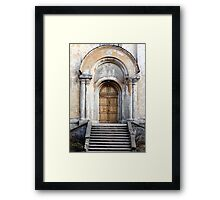 Church entrance Framed Print