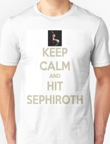 Keep Calm & Hit Sephiroth (White) T-Shirt