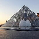 Paris Louvre waterfall by graceloves