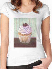 Chocolate Monster Cupcake Women's Fitted Scoop T-Shirt