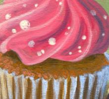 Russian Pink Cupcake Sticker