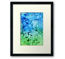 Greeny Blue Framed Print