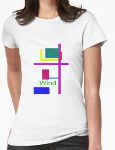 Wind Womens Fitted T-Shirt