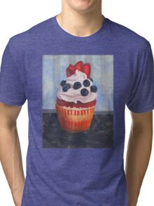 Mad Blueberries Cupcake Tri-blend T-Shirt