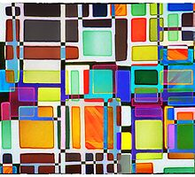 Stained Glass Window Multi-Colored Abstract by Natalie Kinnear
