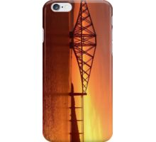 Forth Rail Bridge (Small) Orange Sunrise.   iPhone Case/Skin