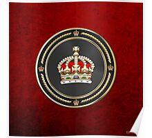 Imperial Tudor Crown over Red Velvet Poster
