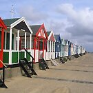 Beach huts at Southwold by elsiebarge