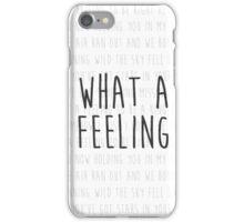 What A Feeling Lyric iPhone Case/Skin