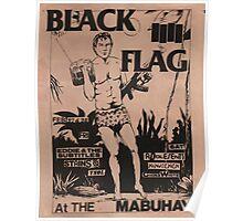Black Flag concert Poster