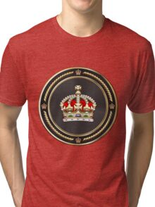 Imperial Tudor Crown over Red Velvet Tri-blend T-Shirt