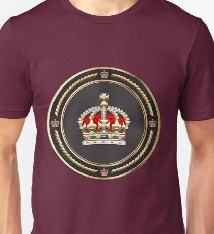 Imperial Tudor Crown over Red Velvet Unisex T-Shirt