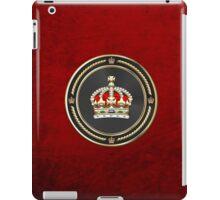 Imperial Tudor Crown over Red Velvet iPad Case/Skin