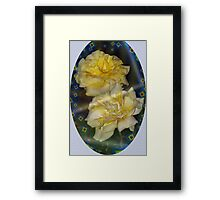 Emblematic yellow roses Framed Print