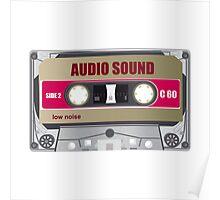 tape cassette illustration Poster