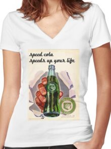 speed-cola Women's Fitted V-Neck T-Shirt
