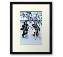 so I was telling you about... Framed Print