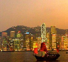 hong kong harbour by Mark Walker