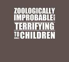 Zoologically Improbable { White Text } Unisex T-Shirt