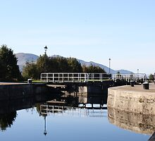 Neptune's Ladder Caledonian Canal at Corpach, Scotland by Katherine Case