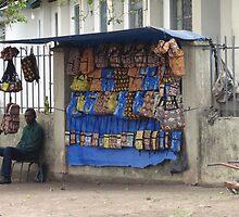 Roadside vendor in Brazzaville, Congo - 2012 by Baba John Goodwin