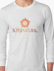 Supernatural logo in RED Long Sleeve T-Shirt