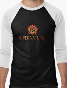 Supernatural logo in RED Men's Baseball ¾ T-Shirt